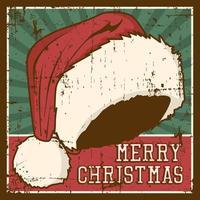 Vrolijke Kerstmis Vintage Signage Rustiek Poster vector