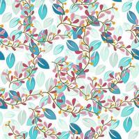 Tak en bloemenaard naadloos patroon