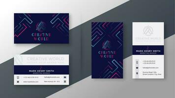 elegante visitekaartjes sjabloon set