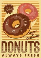 Donuts bewegwijzering Poster Rustiek vector