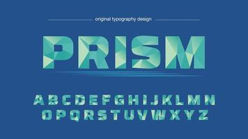 Abstracte laag poly groen artistieke typografie vector