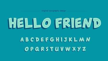 Blauwe cartoon artistieke lettertype