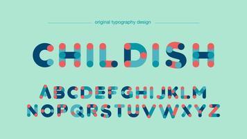 Abstract kleurrijk buizen artistiek lettertype vector