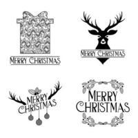 vrolijke kerst badge set