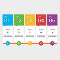 Moderne Infographic tijdlijn