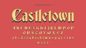 Oude Script middeleeuwse kalligrafie lettertype vector