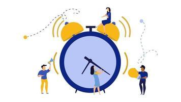 Ochtendtijd voor mensen uit het bedrijfsleven werken illustratie