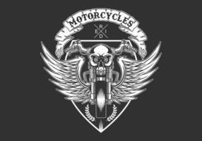 aangepaste motorfietsen badge vectorillustratie