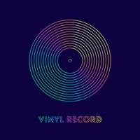 Kleurrijke lijnen Vinyl Record Vector Poster