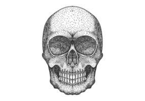 Skull head dot werk ontwerp vector