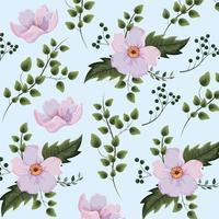 Exotische bloemen planten met takken achtergrond vector