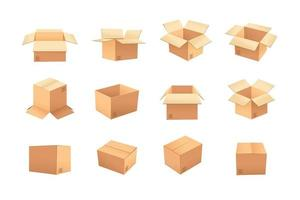 Kartonnen dozen ingesteld vector