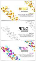Abstracte kaart set geometrische kubussen