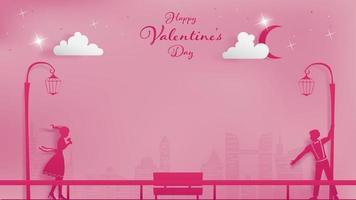 Magisch moment in metropool valentijnstijd vector