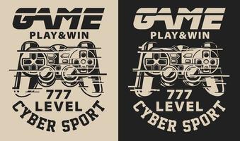 Set van illustratie op het gaming-thema met glitch-effecten