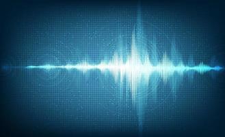 Hi-Tech digitale geluidsgolf Laag en hoog op technische achtergrond.