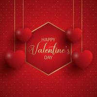 Elegante Valentijnsdag achtergrond vector