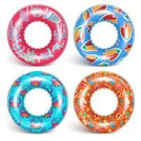 4 opblaasbare ringen met een patroon