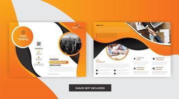 Oranje kleur Zakelijk bedrijf Brochure sjabloonontwerp