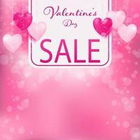 Banner van Valentijnsdag verkoop