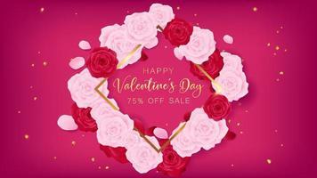 Valentijnsdag vierkante sjabloon