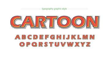 Strips Cartoon oranje typografie