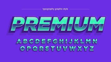 Vet 3D Chrome Metallic Sports typografie