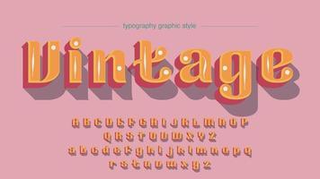 Vintage oranje afgeronde weergave typografie