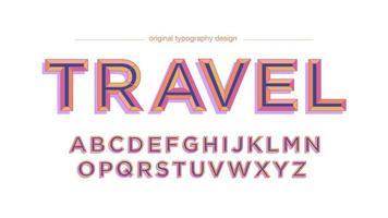 Oranje paars vintage typografieontwerp in hoofdletters