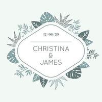 Blad bruiloft frame met ruimte voor tekst