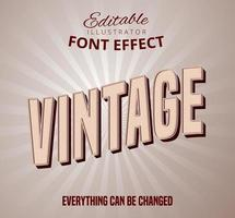 Vintage patroon lettertype effect vector