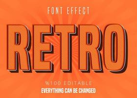 Retro patroon lettertype effect vector