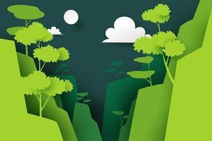 Papierkunst van natuur en berg
