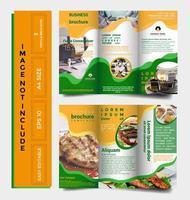 TRIFOLD brochure sjabloon vector