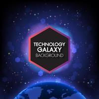 Communicatietechnologie en internet wereldwijd zeshoeken voor bedrijven vector