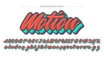 Kleurrijke vetgedrukte kalligrafie lettertype vector