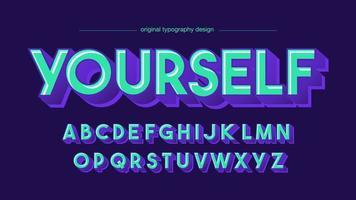 Blue Bold 3D-weergave artistieke typografie