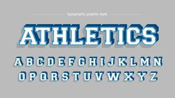 Blue Varsity College Slab Serif typografie vector