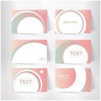 roze abstracte voorbladsjabloon set vector
