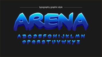Blauw vet kalligrafie artistiek lettertype vector