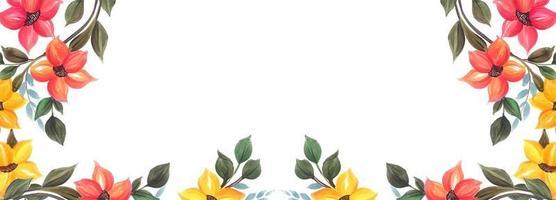 Kleurrijk bloemenbannerontwerp als achtergrond