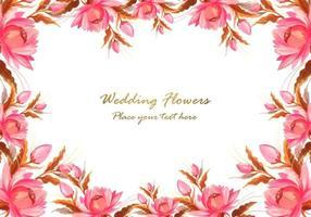 Frame gemaakt van decoratieve bloemensamenstellingsachtergrond vector