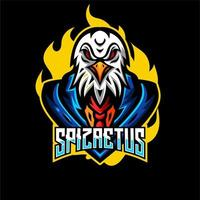 Eagle dieren esports gaming karakter
