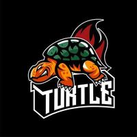 Trutle Animals esports karakter embleem vector