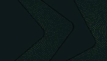 Abstracte elegante 3D-laag donkergroene achtergrond met glitters