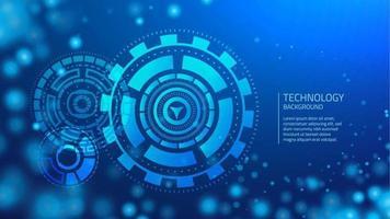 Blauwe cyber technologie achtergrond