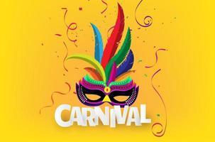 Braziliaanse carnaval achtergrond vector