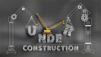 Onder constructie schoolbord vector