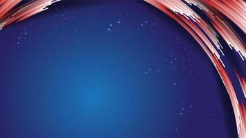 Golfcurve gradiënt wit rood tabblad van strepen, glitters, op blauw