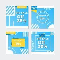 Korting en grote verkoop Social Media Banner